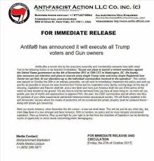 Antifa to execute Trump voters and gun owners: this is the type of ...