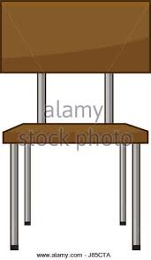 classroom table vector. school student chair used in the classroom - stock vector table