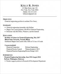 Engineering Internship Resume Sample Delectable Chemical Engineer Resume Template Impressive Free Download Chemical