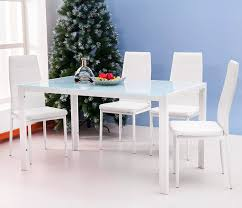 contemporary furniture dining tables. amazon.com - merax 5pc glass top dining set 4 person table and chairs kitchen modern furniture dinette (white) \u0026 chair sets contemporary tables