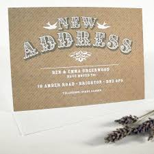 Personalised Change Of Address Cards By Prettywild Design