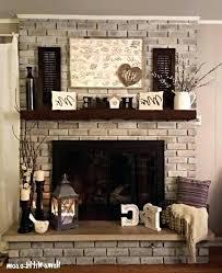 brick fireplace mantel decor surround ideas designs