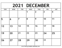 Monthly calendar for the month january in year 2021. December 2021 Calendar Free Printable Calendar Com