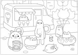 Pusheen Free Printable Coloring Pages For Kids
