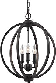 feiss f3060 3orb corinne oil rubbed bronze mini chandelier light loading zoom