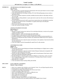 Concierge Manager Resume Samples Velvet Jobs