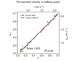 Speed Vs Velocity Pre Transition Center Of Mass Com Velocity Vs Walking