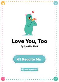 love you too by cynthia platt