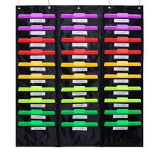Us 25 99 Godery School Pocket Chart 30 Signatory Pocket Heavy Duty Hanging File Folders Pocket Chart Cascading Organizer 5 Hangers In Briefcases