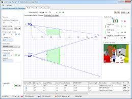 graphical cctv lens calculator