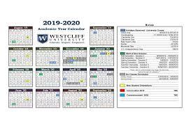 Academic Year Calendar Westcliff University