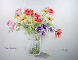 easy watercolor paintings watercolor paintings by roseann hayes fl bouquet watercolor
