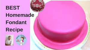 Homemade Fondant Recipe Easy Sugar Paste By Veena Azmanov Youtube