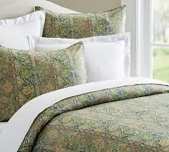 odelia print duvet cover sham pottery barn for modern residence green duvet cover designs