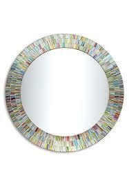 decorative wall mirror bohemian rainbow rhapsody glass mosaic decorative wall mirror rectangle metal decorative wall mirror