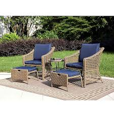 home 5 piece all weather wicker patio