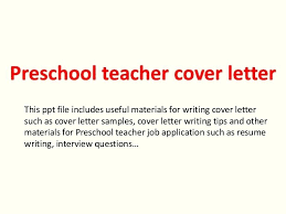 Early Childhood Educator Cover Letter Thumbnail 4 Best Solutions Of