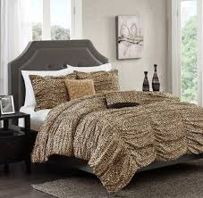 tempting large size leopard print bedding comforter set kingsize cal bedding cozy relaxed and chic