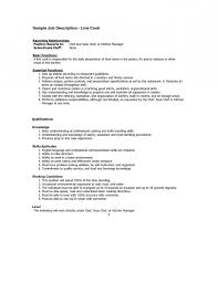 ... Amusing Head Cook Job Description For Resume For Your Chef Job