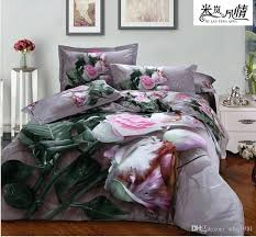 pink queen size bedding pink rose bedding set queen size oil painting bed set comforter quilts pink queen size bedding