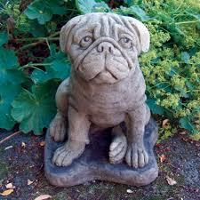 Pug Dog Statue Sculpture - Large Garden ...