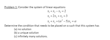 consider the system of linear equations x 1 x 2