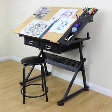 drafting table desk. Image Is Loading Adjustable-Drawing-Board-Drafting-Table-With-Stool-Craft- Drafting Table Desk A