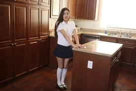 Horny brunette schoolgirl fucked and filled with cum at Brdteengal