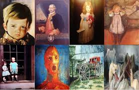 are any of these works of art truly haunted or possessed of some sinister force or are they just merely constructs of canvas wood and paint