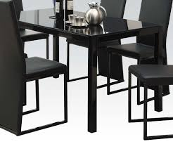 Riggan Casual Black 8mm Tempered Glass Top Rectangle Dining Table