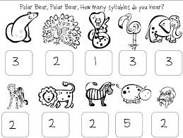 Syllables Worksheets For Kindergarten Free Worksheets Library ...