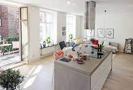 open plan apartment design in