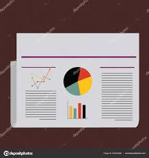 Chart Poster Design Colorful Layout Design Plan Of Text Lines Bar Linear And