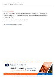 Check spelling or type a new query. Pdf Using Quizizz To Develop An Assessment Of Physics Learning An Alternative Way For Physics Learning Assessment In The Covid 19 Pandemic Era