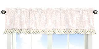 sweet jojo designs blush pink white damask and gold polka dot amelia baby girls