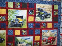 360 best panel quilts images on Pinterest | Panel quilts, Quilt ... & vintage car quilt...nice setting blocks for a feature fabric ie Train fabric Adamdwight.com