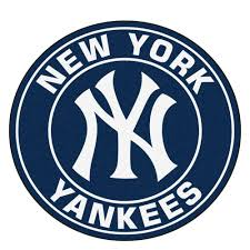 fanmats mlb new york yankees navy 2 ft x 2 ft round area rug