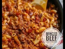 minced beef macaroni you