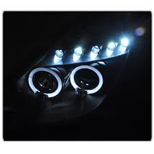 xenon 00 05 toyota celica dual angel eye halo led projector hid xenon 00 05 toyota celica dual angel eye halo led projector headlights black