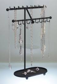 Long Necklace Holder Jewelry Tree Organizer Display Stand Storage Rack 3  Colors Available (Sharisa-Black) Reviews