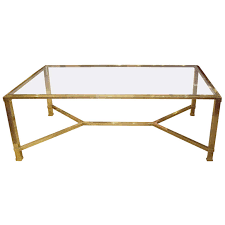gold brass coffee table simple legs vintage french stdibs fantastic single glasses