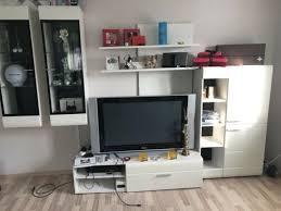 Awesome Wohnwand Schrank Vitrine Mit LED Weiß TV Board Wohnzimmer In München