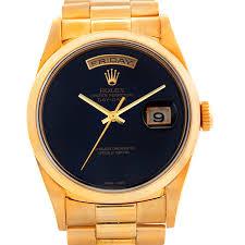 swisswatchexpo men s rolex atlanta dealers cartier watches rolex president mens 18k yellow gold onyx watch 18208