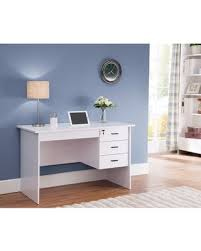 Modern office desk white Design Modern Office Desk With Three Locking Drawers White Better Homes And Gardens Winters Hottest Sales On Modern Office Desk With Three Locking