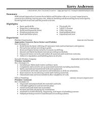 Construction Worker Job Description Resume Template