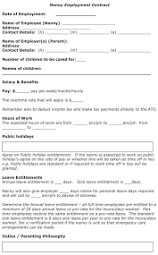 99.8 kb (3 pages) ( 4.2, 19 votes ). Free Nanny Employment Contract Doc 42kb 4 Page S