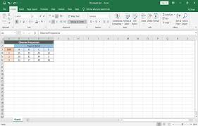 chi square test in spreadsheets datac