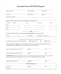Personal Time Off Request Form Request Day Off Email Sample Grand Furthermore H La En W Caption