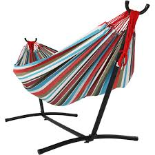 Cool Hammock Sunnydaze Jumbo Brazilian Double Hammock Large 2 Person Portable