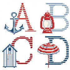 Alphabet Chart Australia Marine Alphabet Chart Les Brodeuses Parisiennes